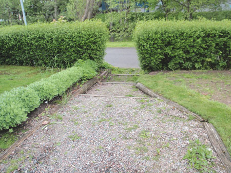 Trädgårdsentrén före